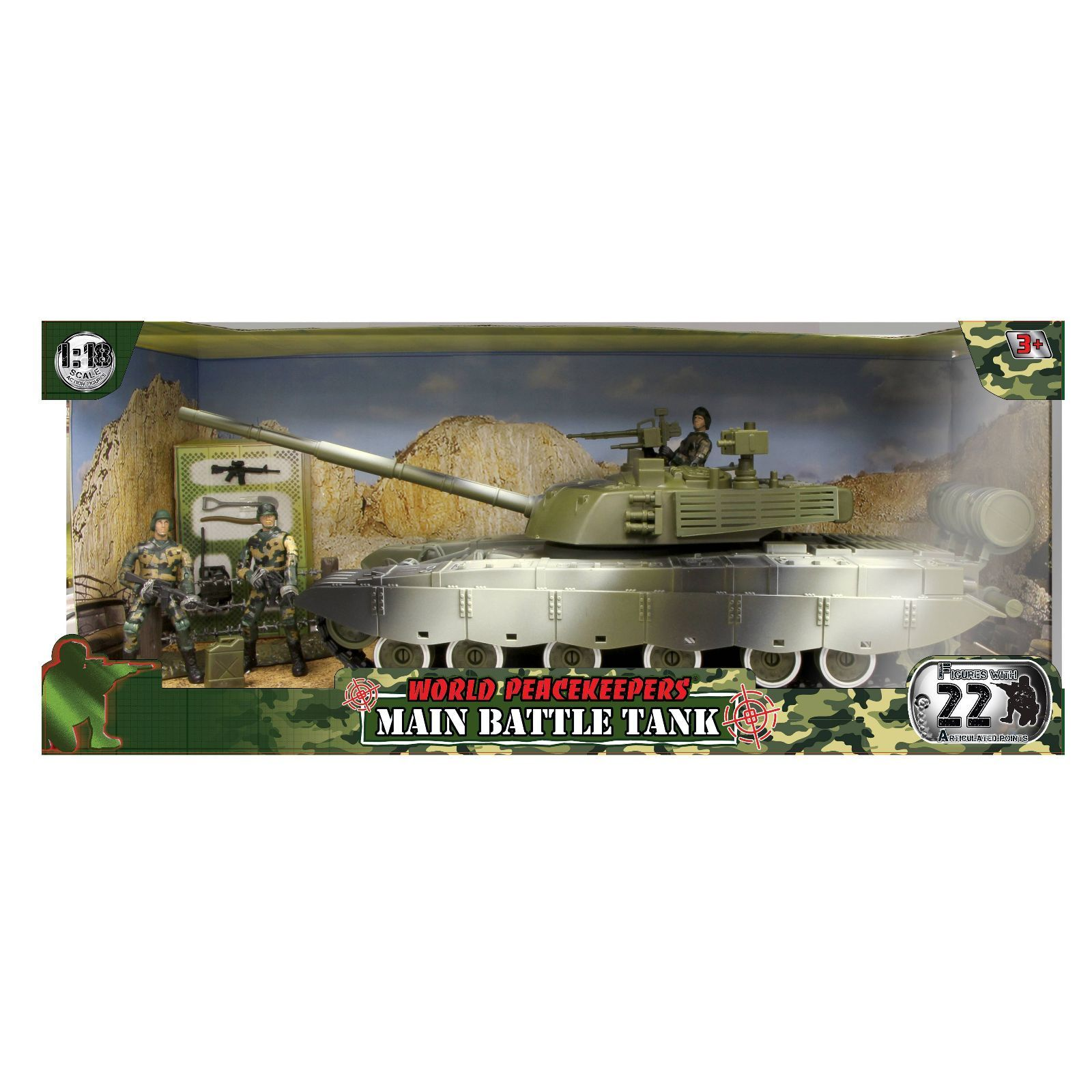 World Peacekeepers Military Main Battle Tank Army Toy with figures